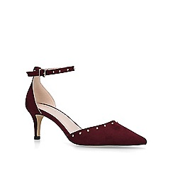 Carvela - Wine 'Kanter' low heel court shoes