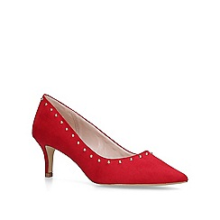 Carvela - Red 'Krispin' mid heel court shoes