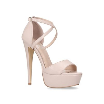 Carvela   Nude 'leap' High Heel Platform Sandals by Carvela