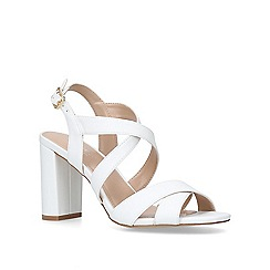 Carvela - White 'Saddle' high heel sandals