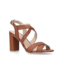Carvela - Tan 'Saddle' high heel sandals