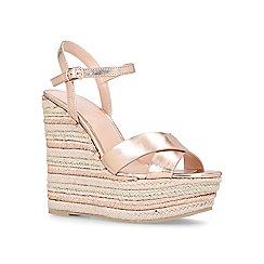 Carvela - Bronze 'Sheen' high heel wedge sandals