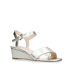 Nine West - Gold 'Lucyme' low wedge sandals