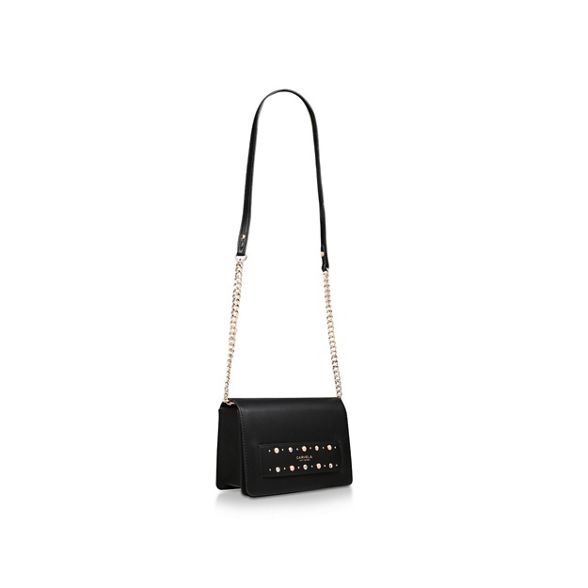 Black X Carvela Jem 'Oval body cross Panel bag Body' HFFq7d6