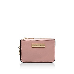 Carvela - Pink 'Shelly Clear Back Purse' top zip purse