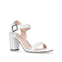 Miss KG - White 'Ella' mid heel sandals