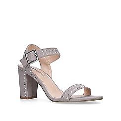 Miss KG - Grey 'Ella' mid heel sandals