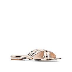 Carvela - Bronze 'Beam' flat sandals