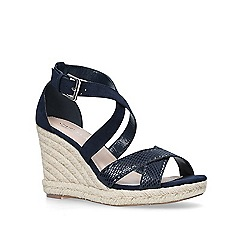 Carvela - Navy 'Smashing' high wedge sandals