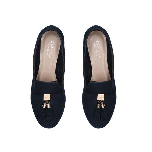 'Morgan' Navy slip Carvela loafers on w0vpRpXq