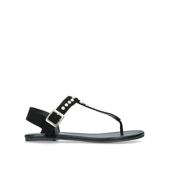 Miss flat 'Rapper' Black sandals KG wqS4zwF
