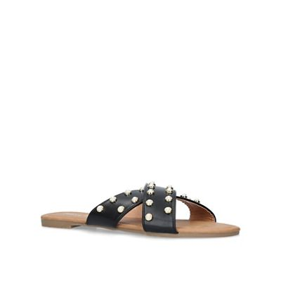 Miss Miss Miss KG - Black 'Rocco' flat sandals 030544
