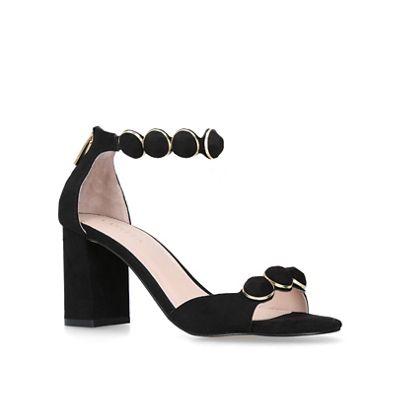 Carvela - Black 'Gillian' mid sandals heel block sandals mid aaecc4