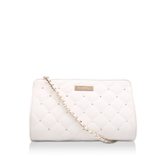 body Cream studded Carvela bag Quilted 'Becca Bag' Evening cross UnZq0ad