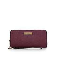 Carvela - Wine 'alexa large wallet' zip wallet