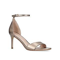 Carvela - Bronze 'Glimmering' mid heel strappy sandals