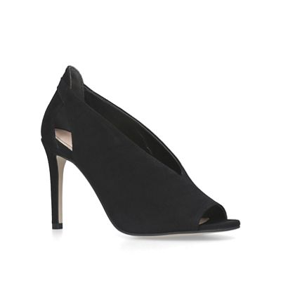 Carvela - Black 'Alpha' suede peep toe sandals