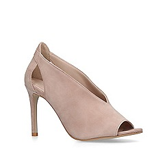 Carvela - Taupe 'Alpha' suede peep toe sandals