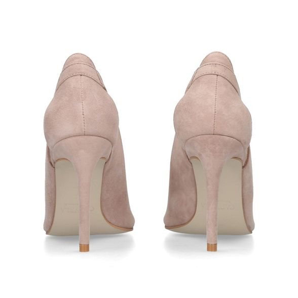 Taupe suede toe sandals Carvela peep 'Alpha' E1qZ4w