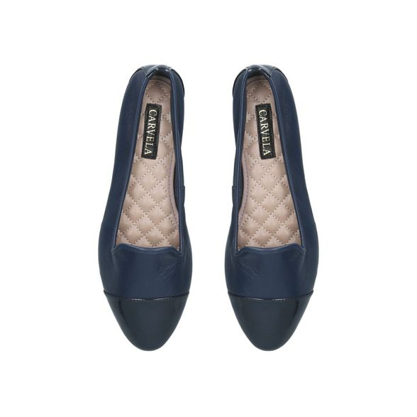 Navy 'Mercy' ballerina leather Carvela shoes dUwadq
