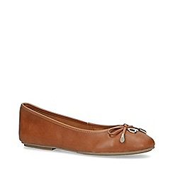 Carvela - Tan 'Magic' Leather Ballerina Shoes
