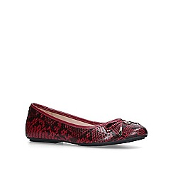 Carvela - Red 'Magic' leather ballerina shoes