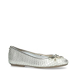 Carvela - Silver 'Magic' Leather Ballerina Shoes