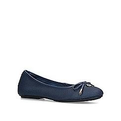 Carvela - Navy 'Magic' leather ballerina shoes