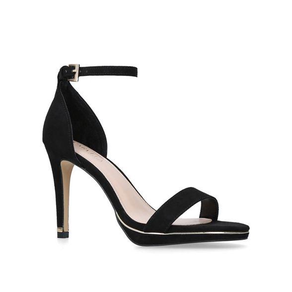stiletto heeled Black sandals Carvela strappy 'Leo' qEP6WRw0