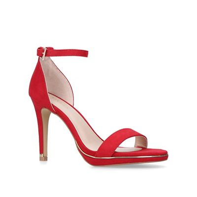 Carvela - Red 'Leo' stiletto heeled strappy sandals