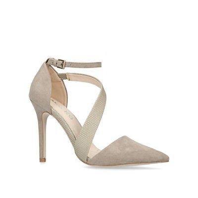 Miss KG - Grey 'arielle' stiletto heel court shoes