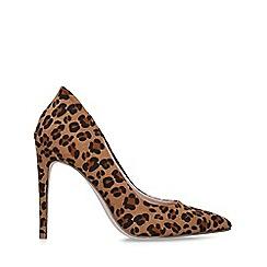 Miss KG - Leopard 'Cayleb' Print Stiletto Court Heels