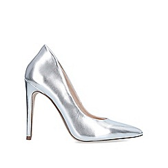 Miss KG - Silver 'Cayleb' High Heel Court Shoes