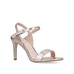 Miss KG - Rose 'Poppy' gold mid heel sandals