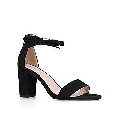 Miss KG - Black 'Patsy' mid heel sandals