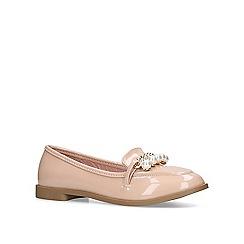 Miss KG - Nude 'Nila' slip on loafers