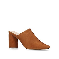 KG Kurt Geiger - Tan 'Cadence' suede court shoes