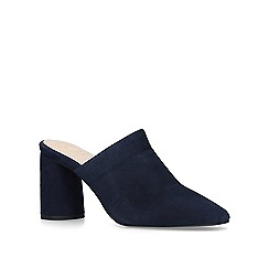 KG Kurt Geiger - Navy 'Cadence' suede court shoes