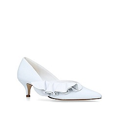 cc777e7a123 KG Kurt Geiger - White  Cara  kitten heel court shoes