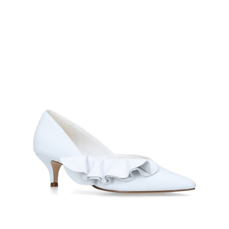 KG Kurt Geiger - White Cara Kitten Heel Court Shoes