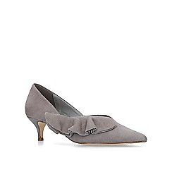 KG Kurt Geiger - Grey 'Cara' low heel court shoes