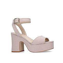 KG Kurt Geiger - Nude 'Flynn' platform heeled sandals