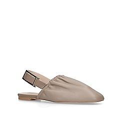 KG Kurt Geiger - Nude 'michelle' slingback flat shoes