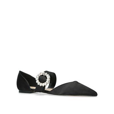 KG Kurt Geiger - Black 'Manda' flat court shoes
