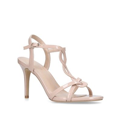 Nine mid West - Nude 'Demi' mid Nine heel sandals 9668c9