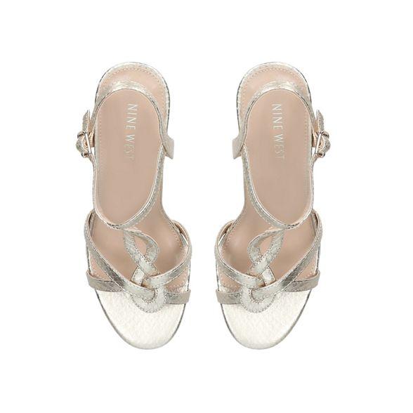 Gold 'Demi' heel mid West sandals Nine xaYwqPvZ