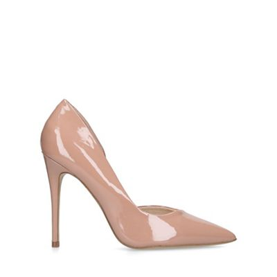 KG Kurt Geiger - Nude 'alexandra2' stiletto heel court shoes