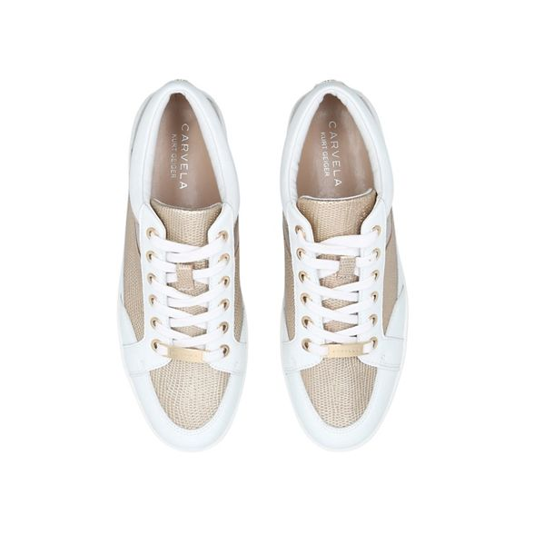 trainers flat Carvela lace Legacy White up CPwwvnqp