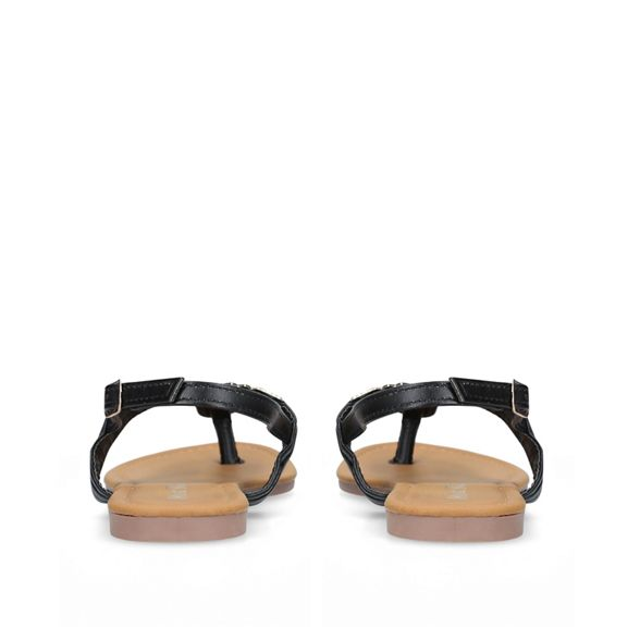 Miss sandals Black t KG flat 'Jennifer2' bar z4Cq8wzv