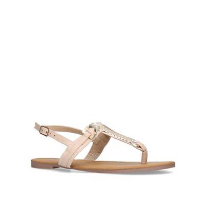 Miss KG t-bar - Nude 'Jennifer2' flat t-bar KG sandals 77ee22